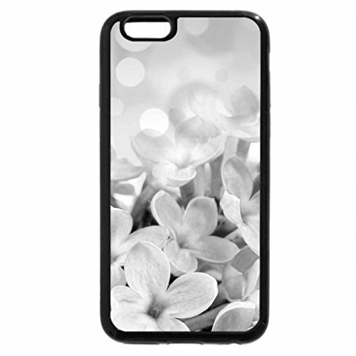 iPhone 6S Plus Case, iPhone 6 Plus Case (Black & White) - Teeny Flowers