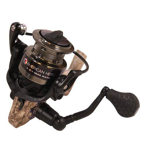 Lews Fishing AHC200 American Hero Camo Speed Spinning Reel, 6.2: 1 Gear Ratio, 6 Bearings, 31