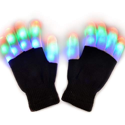 JOLIMENT Kids Flashing Finger Light LED Gloves