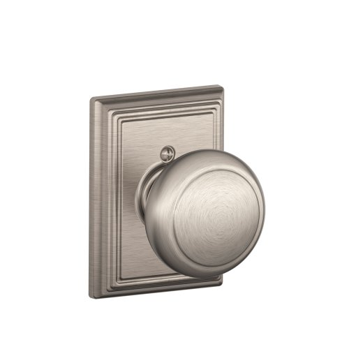 Schlage Lock Company Andover Knob with Addison Trim Non-Turning Lock, Satin Nickel (F170 AND 619 (F170 Single Dummy)