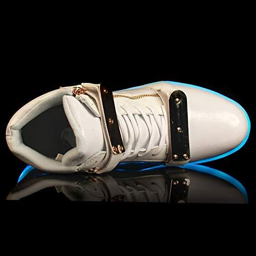 piatto poliuretano da ZHZNVX Bianco Flats Comfort Scarpe PU Tacco Nero Estate Primavera donna White avaIZnq