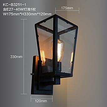 Bootu - Candelabro de luces LED y apliques de estilo retro, para café, balcón, escalera, pasillo, carretera, apliques: Amazon.es: Iluminación