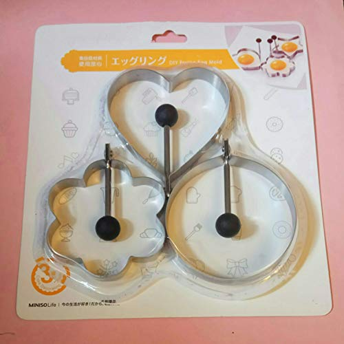 LAWMAN Fired Egg Shaper Set Pancake Shape Mold Baking Stainless Mould