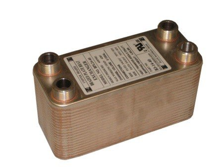 Brazed Plate Heat Exchanger, 3 x 8, 30 Plate 20,000 BTU Port size: 3/4