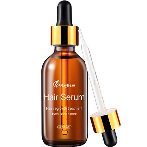 Hair Growth Serum, MayBeau Hair Growth Treatment Oil for Men&Women(60ml) - Natural Herbal Essence Hair Loss Thinning Treatment, Restore Thick and Strong Hair in 30 Days