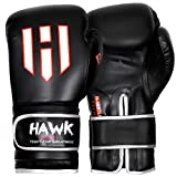 Hawk Boxing Gloves for Men & Women Training Fighting Punching Heavy Bag Mitts UFC MMA Muay Thai Sparring Kickboxing Gloves, 1 Year Warranty!!!! White 14oz