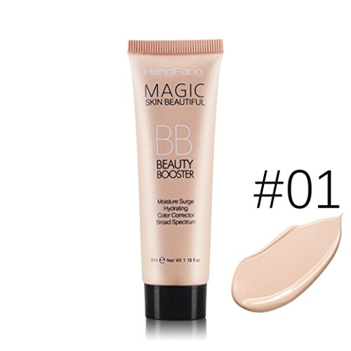 Multifunction Liquid Foundation Makeup, Lotus.flower Women Flawless BB Cream Long Lasting Moist Concealer - Conceal Flaws and Fine Lines Brighten Your Skin (#01)