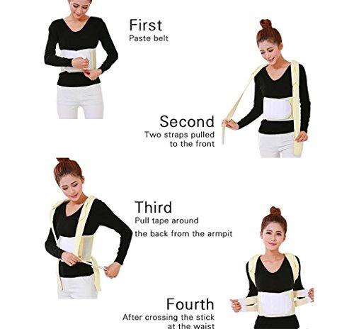 JZLV Adjustable Therapy Back Support Braces Belt Band Posture Shoulder Corrector for Fashion Health , l by JZL (Image #3)
