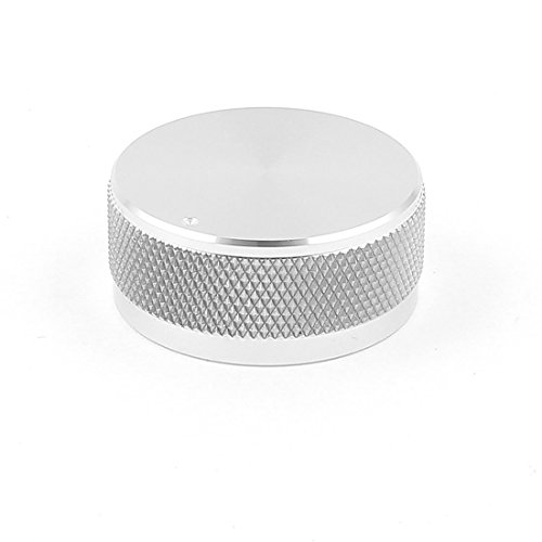 "1.4""x0.6"" Silver Tone Solid Aluminum Hifi Speaker Radio Volume Knobs"