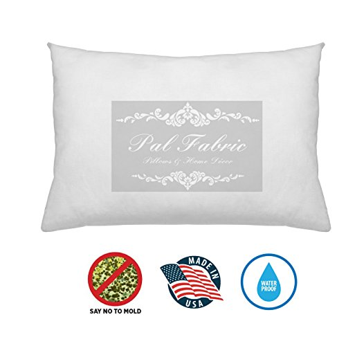 - Pal Fabric Outdoor Anti-mold Waterproof Square Sham Pillow Insert Made In USA (14x18)