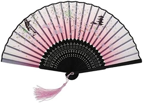 Fan Folding Portable Cherry Rabbit Bamboo Dance Wedding Party ...