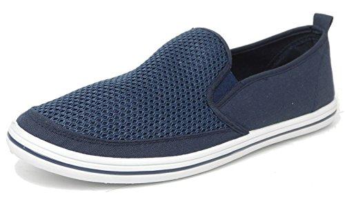 Sur 10 Planche Chaussures Pompes 11 6 Bateau Homme De 7 Toile Pour Dek Taille Denim 12 Bleu 9 8 axBnw