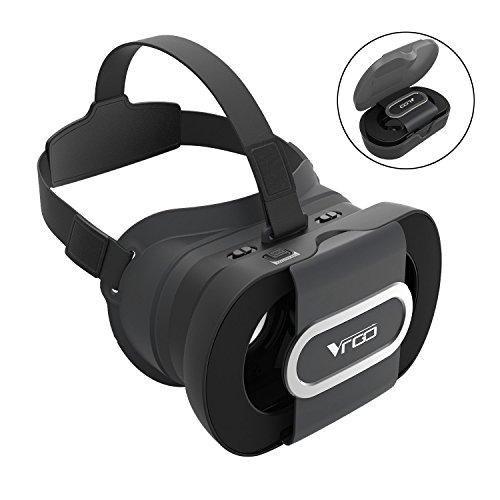 Foldable Portable 3D VR Glasses, Adjustable Virtual Reality VR Headset - Black