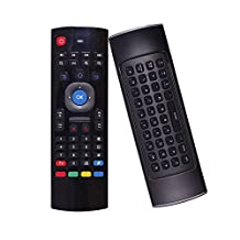 Seleven MX3 Mini Remote Control Air Mouse+Qwert Keyboard 2.4G Wireless 6-Axis Inertia Motion Sensing With Infrared Universal Remote Control For Android TV Box Windows Mac OS Smart TV