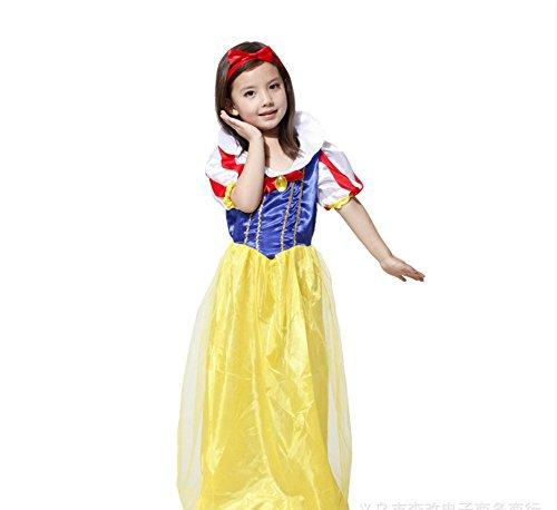 Halloween Christmas Snow White Beach Queen Rebel Elegant Cute Adult Cosplay Dress Ball Costume (Medium)