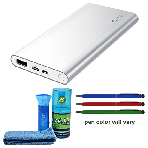 iLuv myPower 100 Portable 10,000mAh Battery Pack with USB Ty