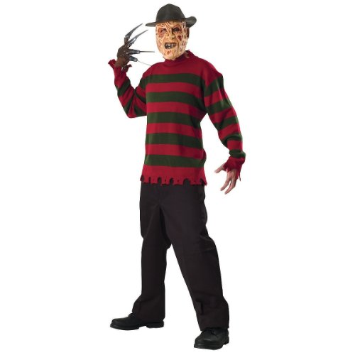 Deluxe Freddy Krueger Sweater Adult Costume - -