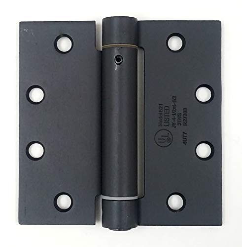 Hinge Outlet Self Closing Spring Hinge - 4 Inches Square - Oil Rubbed Bronze - Spring Loaded for Doors - 2 - Square Hinge 4