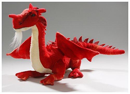 Carl Dick Dragon Sitting red, 14 inches, 30cm, Plush Toy, Soft Toy, Stuffed Animal 2626003
