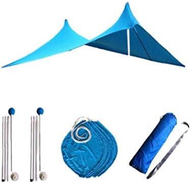 Newin Star Strand-Zelt Leicht Strand Sonnenschutz Sonnenschutz-Überdachung Tragbare Shelter Tarp für Strand Camping Outdoor-Reisen