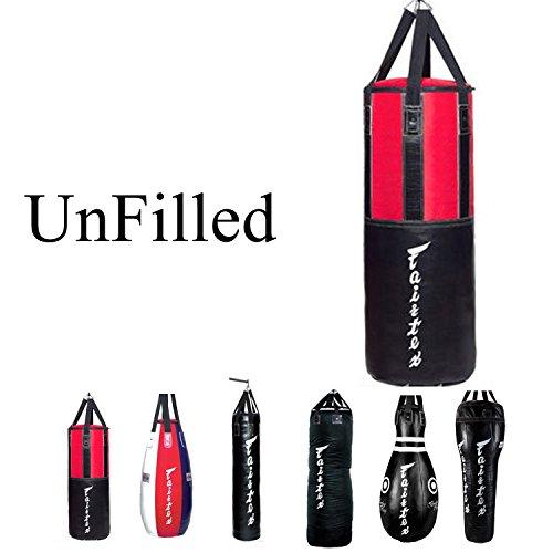 - Fairtex Heavy Bag UNFILLED Banana, Tear Drop, Bowling, 7ft Pole, Angle Bag, HB3 HB4 HB6 HB7 HB10 HB12 for Muay Thai, Boxing, KickBoxing, MMA (HB3 Heavy Bag)