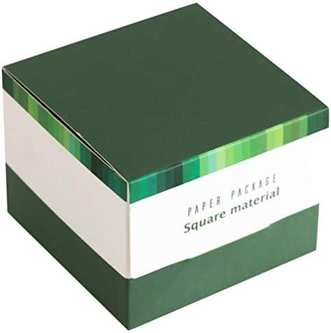 STOBOK Memo Cube Papier Farbe Memo Pad Blatt Planer Notizen Karten Notebooks Message Board Seitenmarker Bundle für Office School Green