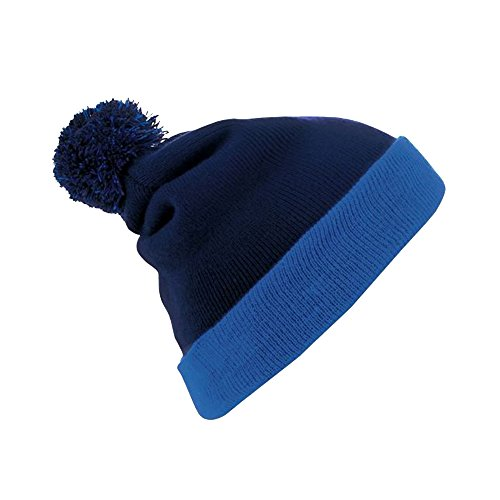 Pom Modelo Beanie Azul de SOLS con Gorro Breeze Marino Pom Invierno royal Unisex xCqw0TUY