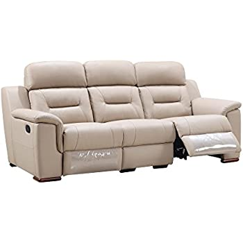 Amazon.com: Blackjack Furniture 9408-BEIGE-S Sofa Leather ...