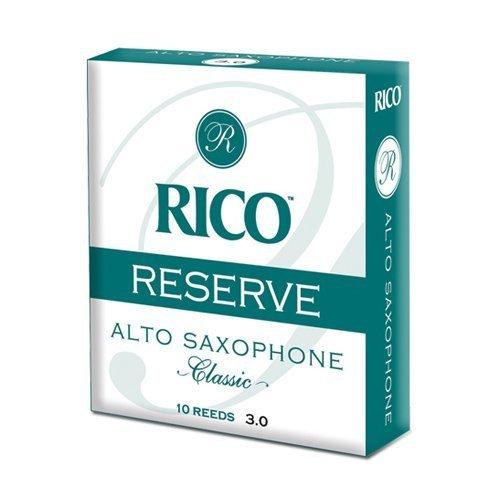 Rico Reserve Classic Alto Sax, Strength 3.0+, 10-pack