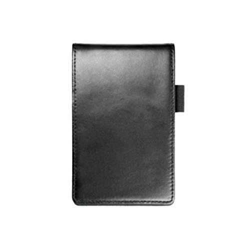 Hero's Pride News Television Reporter Police Officer Detective Private Investigator Student Black Leather Notebook Notepad Note Pad Memobook Holder Case Sleeve Cover