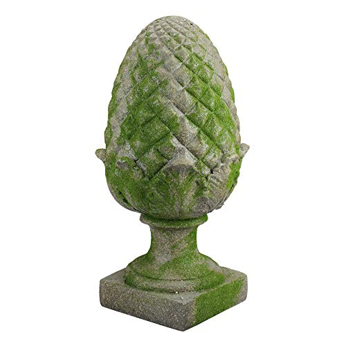 Northlight AG37054 Moss Accented Pineapple Finial Outdoor Patio Statue