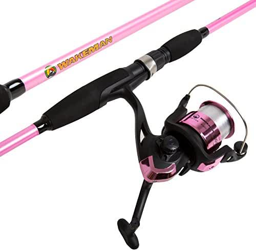Wakeman Strike Series Spinning Rod and Reel Combo - Silver Metallic