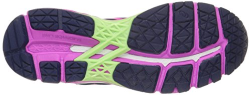 Asics Gel-Kayano 22 Estrechos Fibra sintética Zapato para Correr, Indigo Blue/Pink Glow/Pistachio, 38