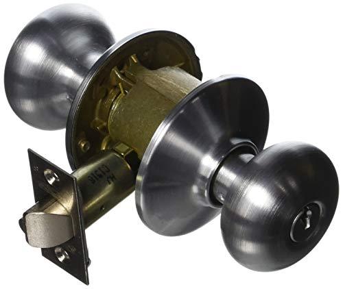 Schlage F80-PLY Plymouth Storeroom Door Knob Set, Satin Chrome