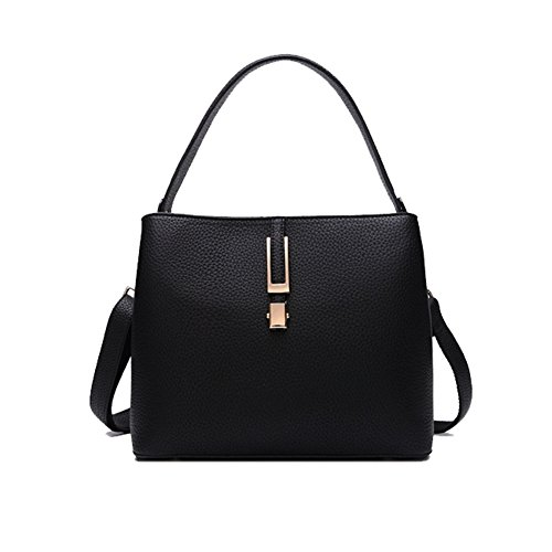 Alot Fashion Bags Female Handbags Diagonal Portable Shoulder Bucket Packet(black£©