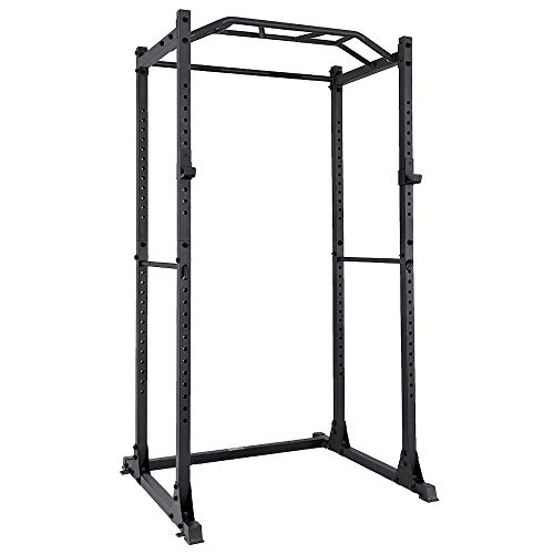 PAPABABE Power Rack Power Cage Workout Station Home Gym for Weightlifting Bodybuilding and Strength Training (1200lb Capacity)