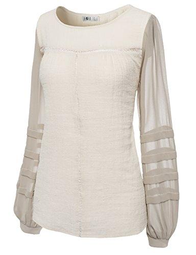 H2H Womens Sleeve Chiffon Cotton
