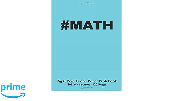 math big bold low vision graph paper notebook 3 4 inch squares