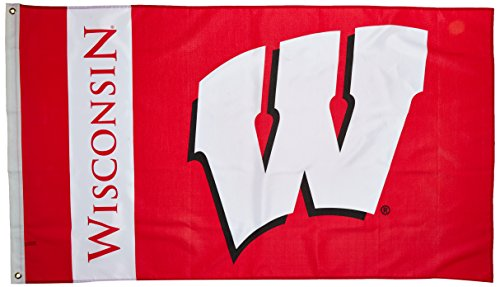 NCAA Wisconsin Badgers 3-by-5 Foot Flag with Grommets