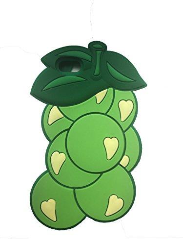 Raisin Raisin Fruit de forme 3D en caoutchouc souple en silicone Retour Housse étui Tpu Gel Skin pour iPhone 5, 5s, 5c © Sloth Cases