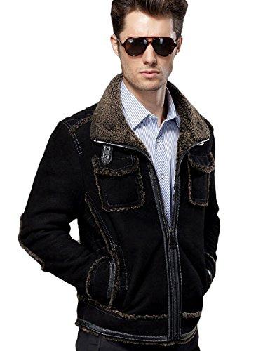 Suede Merino Shearling Jacket - 6