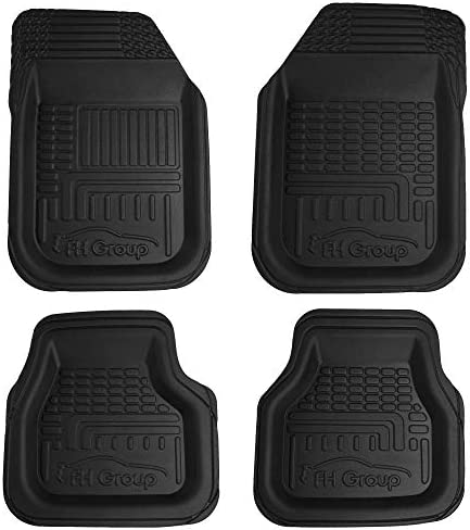 FH Group F11800BLACK TPO Plastic All-Weather Durable Waterproof 3D Semi-Universal Trimmable Floor Mats