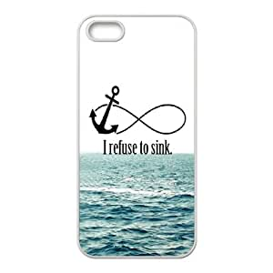 Beautiful Hard Protective Back Cover Case for Iphone 5,5S - I refuse to sink CM13L3630