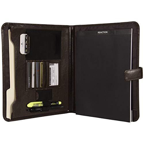 Kenneth Cole Reaction Faux Leather Standard Bifold Writing Pad with Business Organizer, Brown by Kenneth Cole REACTION (Image #3)