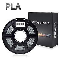 3D Printer Filament PLA, 1.75mm PLA Filament 1kg Spool, Dimensional Accuracy +/- 0.02mm, Enotepad PLA Filament for Most 3D Printer from Enotepad