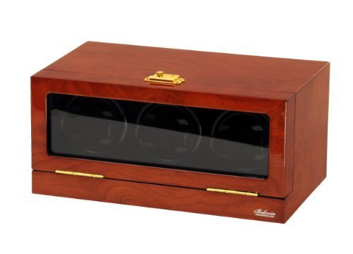 Watch Winder Ebony Wood w/Digital LCD Display Powered w/Mabuchi Motors
