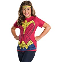 Rubie's Costume Batman v Superman: Dawn of Justice Wonder Woman Child Top and Tiara, Large