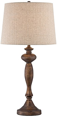 Bentley Brown Candlestick Table Lamp by Regency (Cottage Candlestick Table Lamp)