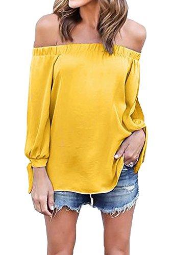Hibluco Womens Shoulder Chiffon T Shirt product image