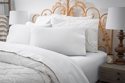 Magnolia Organics Estate Collection Sheet Set - Cal King, White